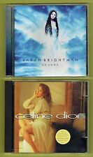 TWO CDS -   Sarah Brightman / La Luna -  Celine Dion - two of the very best