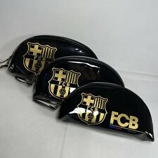 Official FCB Barcelona Set Of 3 Travel Vanity Toiletry Wash Bags Pencil Case