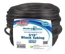 Hydro Flow - Vinyl Tubing Black - 3/16 in ID - 1/4 in OD 100 ft Roll - Pump Tube