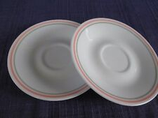Corelle Peach Floral SAUCERS -SET of TWO (2)  *have more items* orange & green