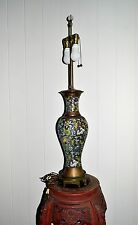 Antique Qing Dynasty CHINESE Export Reticulated Cloisonne electric LAMP X Large