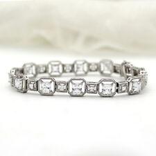 Princess Cut Sparkle Diamond Classic Tennis Bracelet 925 Sterling Silver