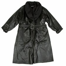 ISSEY MIYAKE Leather 2way Coat Size About M(K-48973)
