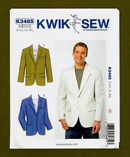 Men's Classic Blazer Sewing Pattern~Pocket Variations (Size S-XXL) Kwik Sew 3485