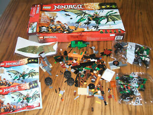 LEGO Ninjago #70593 The Green NRG Dragon, For Parts w/ Instructions & Box