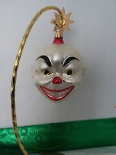 Christopher Radko Ornament Clown Face