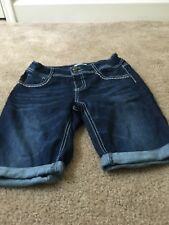 Mudd Cuffed Blue Denim Jean Shorts Girls Sz 16 Clothes