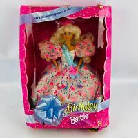 Mattel Birthday Barbie 1994 Blonde Hair Blue Eyes NRFB #12954 Damaged Box