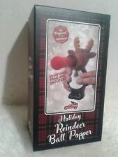 New in box ! Holiday Reindeer Ball Popper -squeezable foam ball shooter