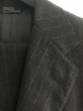 Polo Ralph Lauren Charcoal Gray Pinstripe 2-Button Suit 42 L 34 W Made in USA