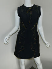 New Women Cynthia Rowley Bonded Sleeveless Multi-Coror Dress Size 10 Made in USA