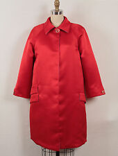 Versace Vintage Red Silk Satin Cocktail Evening Opera Jacket Coat S Small 38 4/6