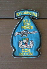 "VIETNAM WAR PATCH-RT LOUISIANA CCN RECON ""KILL FOR PEACE"" PATCH"