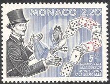 Monaco 1989 Magician/Magic/Dove/Playing Cards/Birds/Animation 1v (n34777)