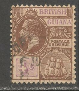 British Guiana #180 (A35) VF USED - 1913 4c King George V & Seal Of Colony