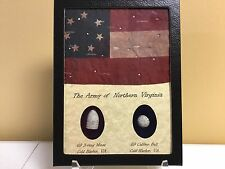 The Army of Northern Virginia Two Piece Bullet and Flag Set with COA