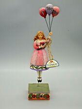 "Jim Shore Heartwood Creek 2006 Girl and Balloons Figurine ""I Love You"" 4007237"