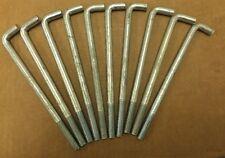 """25 Pcs. Zinc Concrete Anchor Bolts 1/2-13 x 8"""" With Nuts (CC814, 205050000008)"""