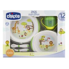 Chicco Geschenkset Mahlzeit 12 Trinklernbecher Tellerset Esslernbesteck