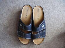 New. Tamaris Sandals.Size UK 40. Navy.100%Leather.