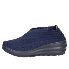 scarpe donna CRISTIN 39 EU slip on blu tessuto BX632-39