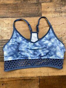 Victoria's Secret PINK Blue Tie Dye Ultimate Light Support Sports Bra Size XL