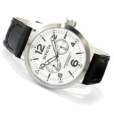 Invicta 48mm I Force 13009 Quartz Stainless Steel Leather Strap Watch   ,NEW