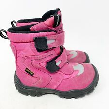 Ecco Girls Boots Goretex Waterproof Lightweight Pink Toddler Size EU 26 US 9