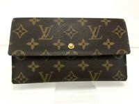 Auth Louis Vuitton Monogram Porte Tresor International Long Wallet B522-4-9-2