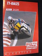 Flyer NS (Nederlandse Spoorwegen) TT Motorraces Assen 24 juni 1989  (TTC)