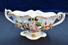 c.1950s Capodimonte Relief Hand Painted Bacchanalian Scenes 2 Handled Vase #952