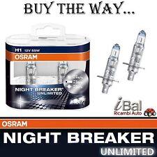 OSRAM LAMPADINE 64150NBUDUO H1 12V 55W A. P14,5s NIGHT BREAKER UNLIMITED COPPIA