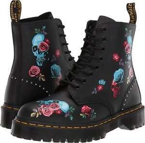 DR. MARTENS 1460 PASCAL BEX ROSE LEATHER BOOTS 24424001