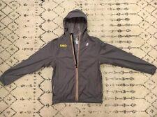 K-Way Mens Windbreaker Jacket Medium M Lightweight Grey Full Zip Solid Adult B3