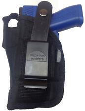 Gun Holster fits Accu-tek 380 with Laser Pro-Tech Outdoors Black Nylon Ambidex