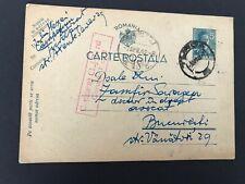 Postal History Romania 1942 Censored Postcard from Cluj to Bucharest