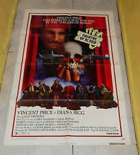 original THEATRE OF BLOOD one-sheet poster Vincent Price Diana Rigg Coral Browne