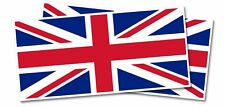 2 x - British Flag - Self Adhesive Removable Waterproof Vinyl Car Stickers