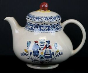 Johnson Brothers Staffordshire Hearts and Flowers Tea Pot Old Granite Cute