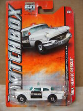 MATCHBOX  2013 HEROIC RESCUE SERIES  '56 BUICK CENTURY POLICE CAR   1/64 SCALE