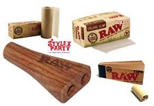 Double Raw Smoking Set & Raw Rolling Paper Roll & Raw Roach Organic Hemp