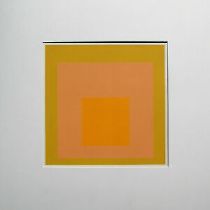 JOSEF ALBERS - Hommage to the Square VII. Unsignierter Farbsiebdruck (1971).