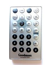 GOODMANS DVD REMOTE CONTROL for GDVD84W2LCD