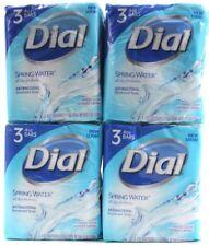 4 Packs of Dial Spring Water Antibacterial Deodorant Bar Soap 3 Bars Per Pack
