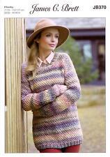 James C Brett JB370 Knitting Pattern Ladies Sweater in Marble Chunky