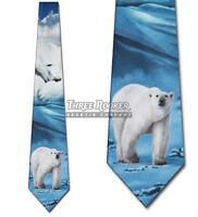 Polar Bear Ties Bears Necktie Mens Animal Neck Tie Brand New NWT