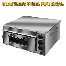Us 110v Commercial Electric Pizza Oven 14kw Single Deck Bread Baking Oven Steel