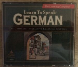 Learn To Speak German PC Berlitz / The Learning Company 2 Programs