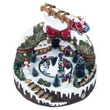 LED Light Up Christmas Festive Illuminated Village Scene Decor Wreath Ornament