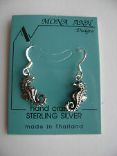 Sterling Silver Small Sea Horse Hook Earrings New